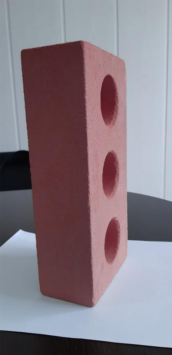 Одинарный пустотелый 250 120 65 розовый
